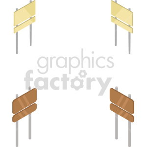 isometric street sign vector icon clipart 1 clipart. Commercial use image # 414585