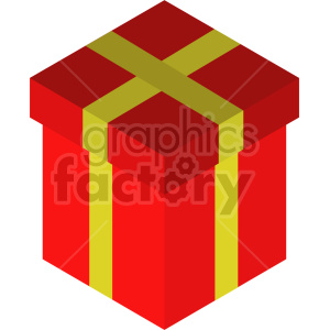 isometric gifts vector icon clipart 3
