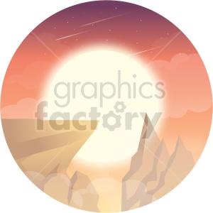 cliff vector clipart icon