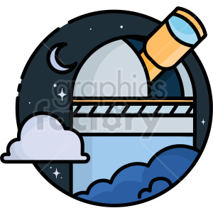 telescope vector clipart icon clipart. Commercial use image # 414722