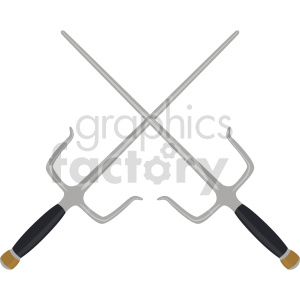 ninja sais weapon vector clipart clipart. Commercial use image # 414824