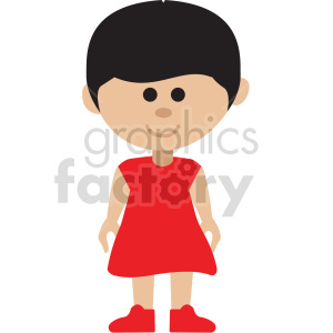 girl standing vector clipart clipart. Commercial use image # 414863
