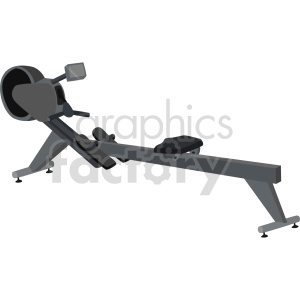 clipart - rowing exercise machine vector graphic.