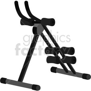 ab exercise machine vector graphic clipart. Commercial use image # 414915