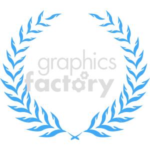 clipart - blue laurel wreath design vector clipart.