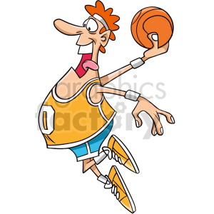 cartoon basketball player dunking clipart clipart. Commercial use image # 415080