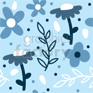 seamless blue flower background graphic clipart. Commercial use image # 415103