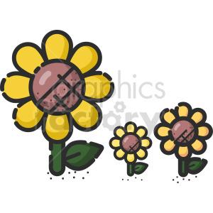 cartoon sunflower clip art clipart. Commercial use image # 415125