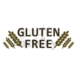 wheat gluten free text vector clipart clipart. Commercial use image # 415160