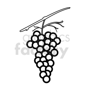 grapes vector graphic 08 clipart. Commercial use image # 415200