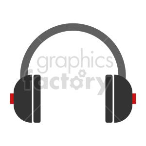 cartoon headphones vector art clipart. Commercial use image # 415233