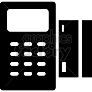 credit card machine vector icon clipart. Commercial use image # 415254