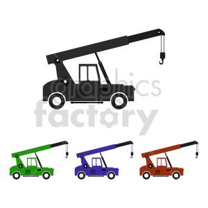clipart - crane truck clipart set.