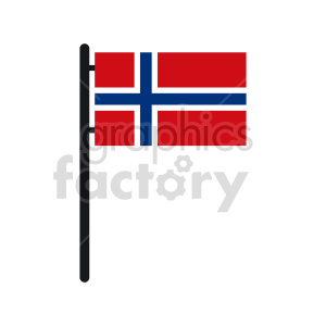 Flag of Norway vector clipart 01 clipart. Commercial use image # 415293
