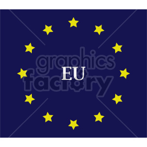 Flag of European Union vector clipart 05 clipart. Commercial use image # 415330