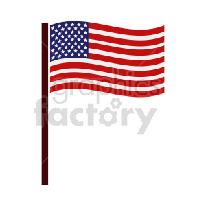 flag of United States vector clipart 05 clipart. Commercial use image # 415359