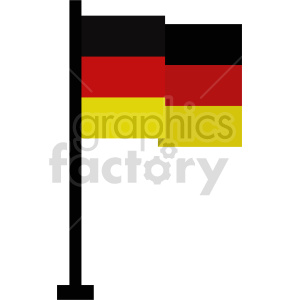 clipart - flag of Germany vector clipart icon 02.