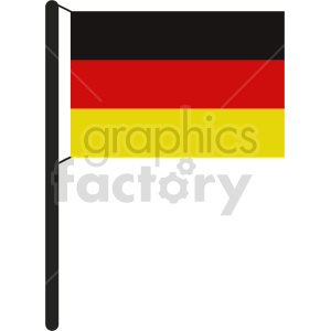 clipart - flag of Germany vector clipart icon 05.