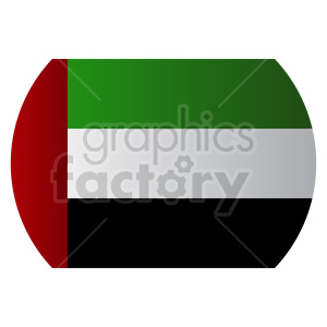 Flag of United Arab Emirates vector clipart 03 clipart. Commercial use image # 415437