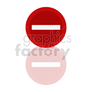 no entry street sign vector graphic clipart. Commercial use image # 415466