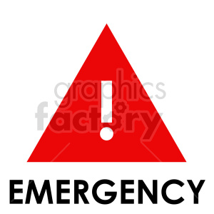 emergency symbol sign vector clipart clipart. Commercial use image # 415472