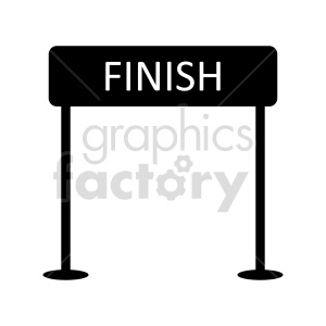 finish sign vector graphic clipart. Commercial use image # 415473