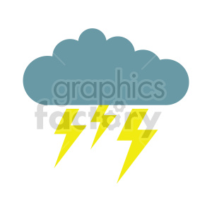 lightning storm icon vector clipart clipart. Commercial use image # 415502