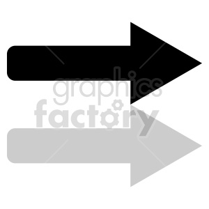 black arrow icon vector clipart clipart. Commercial use image # 415504