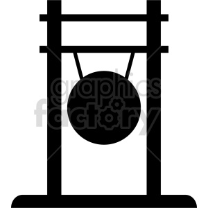gong silhouette vector graphic clipart. Commercial use image # 415561