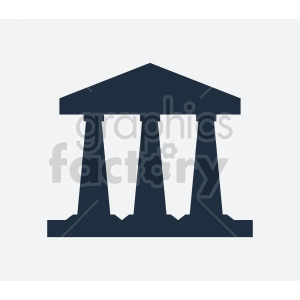 three pillars vector icon clipart. Commercial use image # 415721
