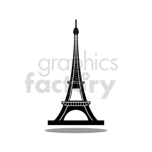 Eiffel Tower royalty free vector clipart. Commercial use image # 415723