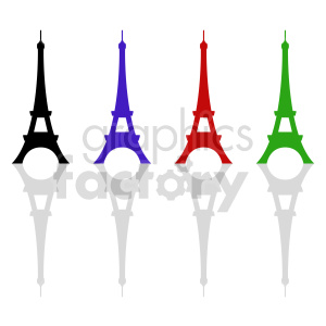 Eiffel Tower royalty free vector set clipart. Commercial use image # 415730
