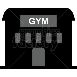 gym building vector icon clipart. Commercial use image # 415732