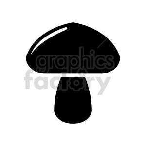 black mushroom design clipart. Commercial use image # 415750