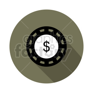 poker chip vector clipart 03 clipart. Commercial use image # 415835