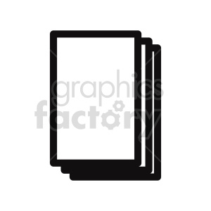 document outline vector clipart clipart. Commercial use image # 415888