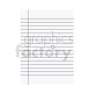 blank ruled paper vector clipart clipart. Commercial use image # 415896