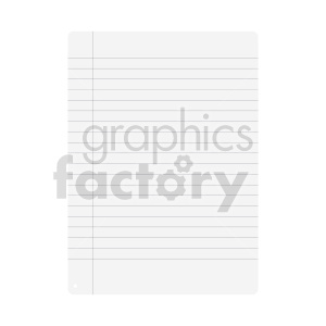 blank lined paper vector clipart clipart. Commercial use image # 415906