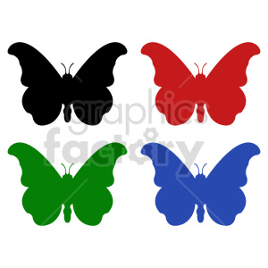 butterfly silhouette vector clipart 010 clipart. Commercial use image # 415933