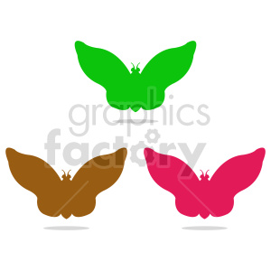 butterfly silhouette vector clipart 014 clipart. Commercial use image # 415941