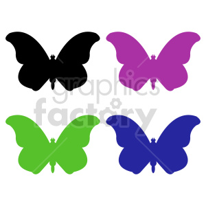 butterfly silhouette vector clipart 04_1 clipart. Commercial use image # 415942
