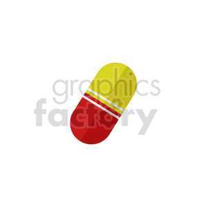 red yellow pill vector clipart clipart. Commercial use image # 415999