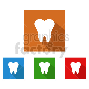 dental teeth icon vector set clipart. Commercial use image # 416002