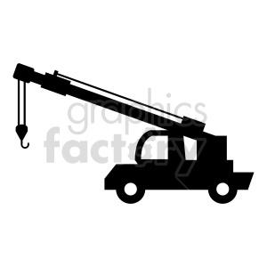 clipart - construction truck crane vector clipart.