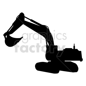 excavator vector graphic design clipart. Commercial use image # 416019
