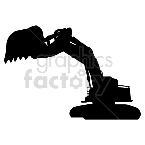 excavator vector graphic clipart. Commercial use image # 416042