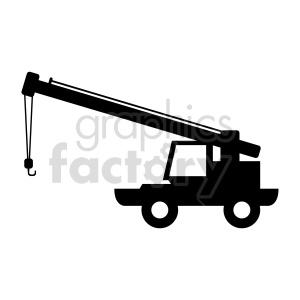 clipart - truck crane vector clipart.