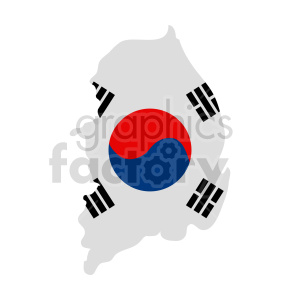 South Korea flag vector clipart clipart. Commercial use image # 416059