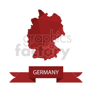 clipart - germany red vector clipart.