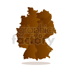 clipart - germany brown vector graphic.